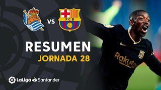 Resumen de Real Sociedad vs FC Barcelona (1-6)
