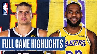 NUGGETS at LAKERS | FULL GAME HIGHLIGHTS | August 10, 2020