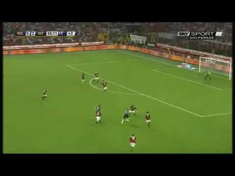 Milan Inter 0-4 Serie A 29/08/09 Highlights Sintesi 2a giornata Sky Sport HD