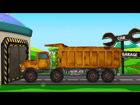 Gravel Truck | Rusty Garage | Car Repair Video For Kids