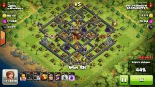 BM077 Balloons and Minions Strategy against champion level opponent - Clash of Clans CoC