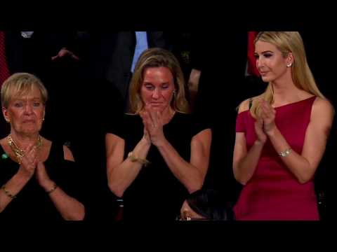 President Trump Honors Fallen Navy Seal Ryan Owens - Wife Receives Standing Ovation