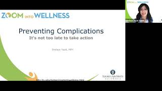 Zoom into Wellness: Preventing Chronic Conditions - It&#39s not too late to take action.