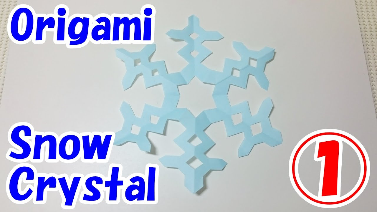 origami christmas decorationssnow crystal youtube