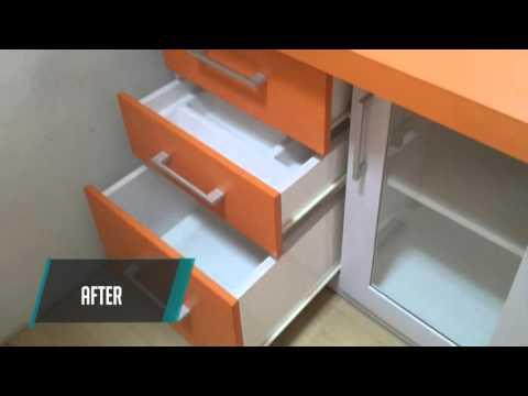 Kitchen Set Minimalis Warna Orange Youtube