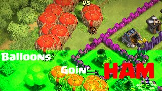 Clash of Clans | BALLOONS GOIN' HAM! | CLASH OF CLANS TH8 GAMEPLAY COMMENTARY