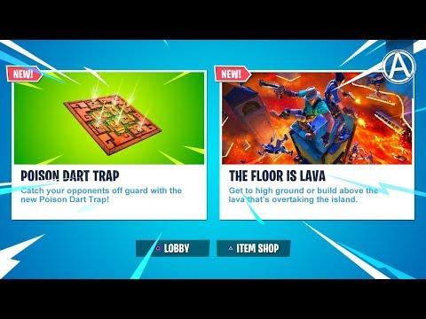 NEW Fortnite UPDATE! NEW FLOOR IS LAVA LTM & POISON DART TRAP Gameplay (Fortnite Battle Royale LIVE)