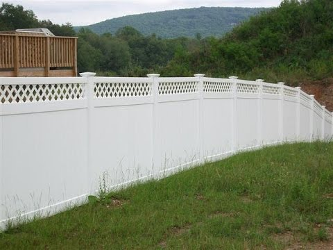 Easy installation vinyl fence panel prices youtube for Easy fence installation