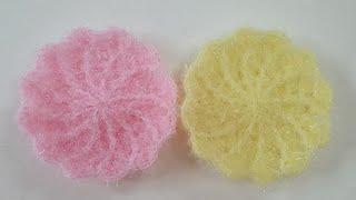코바늘 수세미/회오리 원형수세미 /티코스터 Croche…