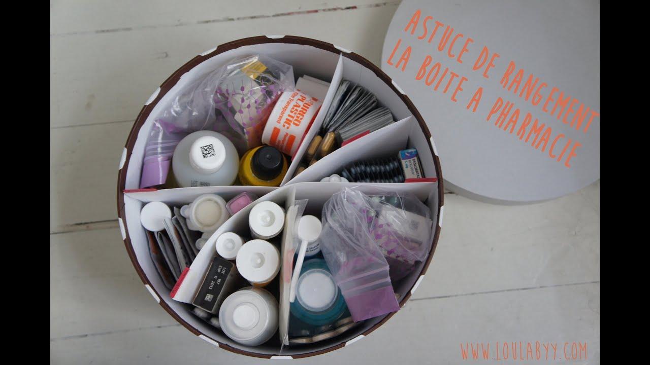 Astuce rangement la boite pharmacie youtube for Astuce de nettoyage pour la maison
