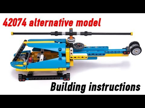 Building Instructions For Lego Technic Helicopter 42074 C Model