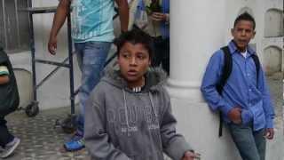 2 Columbian Boys Rapping in the National Graveyard in Bogota