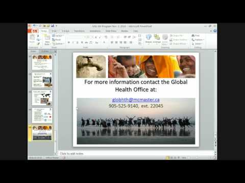 McMaster MSc in Global Health Open House 2014