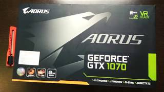 Unboxing: AORUS GeForce GTX 1070 8G