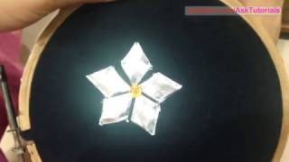 Making Gotta patti flower from Gotta Lace | In Hindi | Handwork