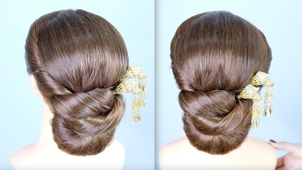 Thai Wedding Hairstyle Tutorial ทรงผมเจ าสาวช ดไทย Beauty