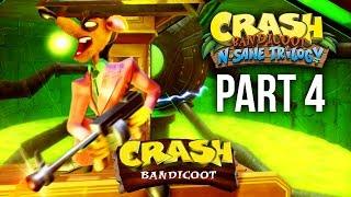 Crash Bandicoot N.Sane Trilogy Gameplay Walkthrough Part 4 - PINSTRIPE PATOOEY - CRASH BANDICOOT 1
