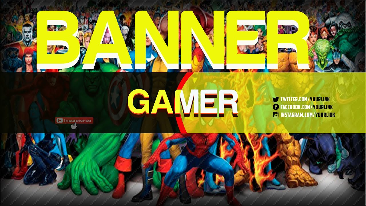 Banner / Arte Para Canal Youtube Profissional