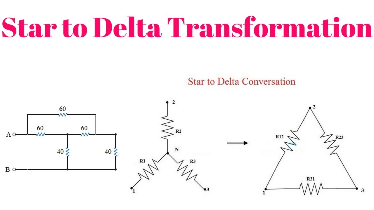 Star to Delta conversation with numerical problem for gate ese psu