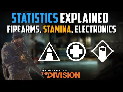 The Division | Player Stats - Firearms, Stamina, Electronics