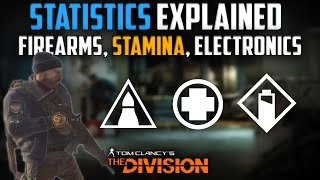The Division   Player Stats - Firearms, Stamina, Electronics