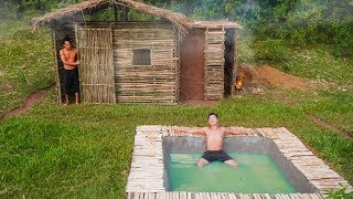 Build The Most Amazing Swimming Pool Around The Sauna By Mud