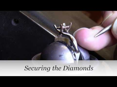 MAKING A PRINCESS CUT DIAMOND ENGAGEMENT RING