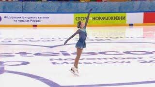 Агнета Латушкина Произвольная программа Кубок России по фигурному катанию 2020 21 Пятый этап