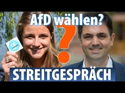 AfD-Politiker gegen Anti-AfD-Aktivistin, ein Streitgespräch –Bundestagswahl 2017, WEN WÄHLEN?