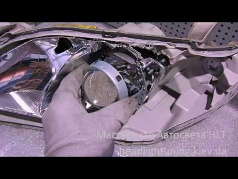 Toyota Camry XV40   замена линз на биксеноновые Hella 3R D2S