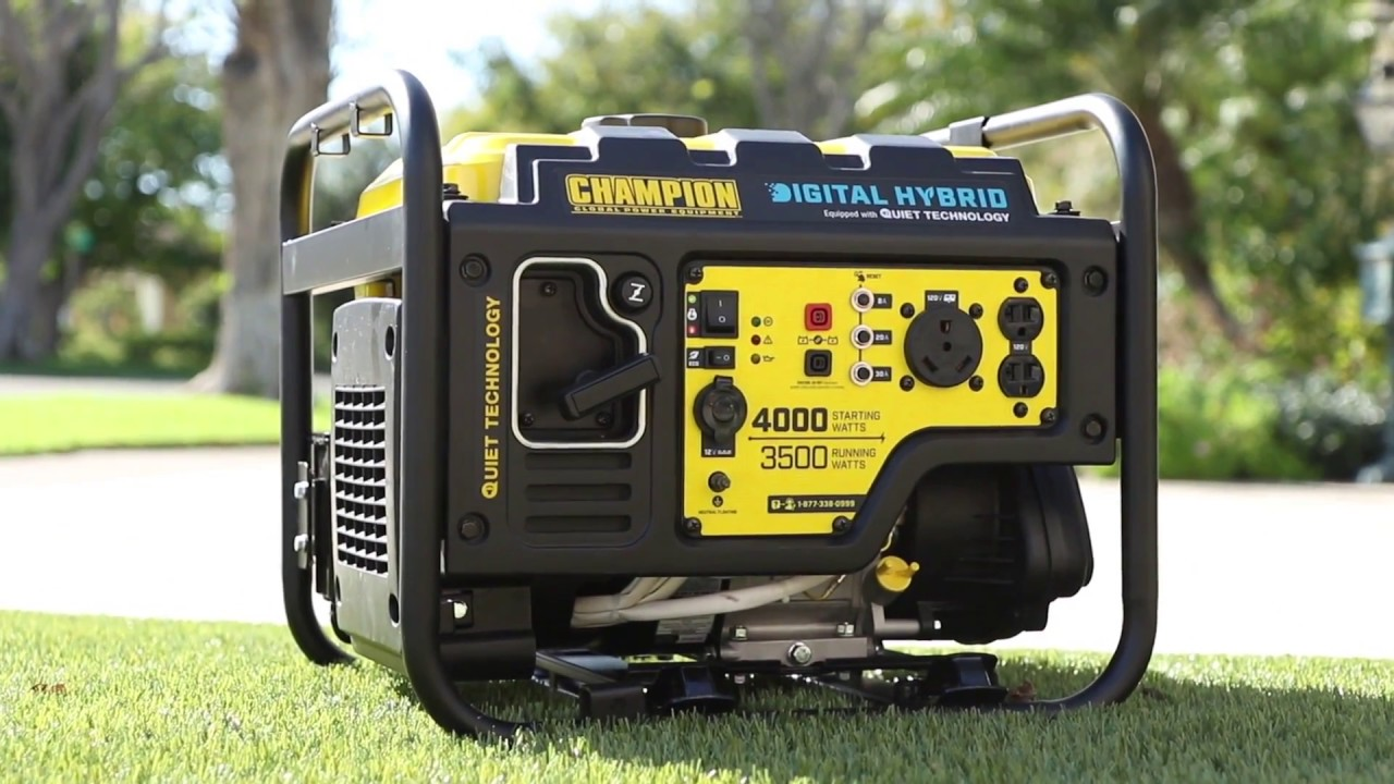 Champion 100302 - 3500 Watt DH Series RV-Ready Open Frame Inverter  Generator w/ Quiet Technology (CARB)