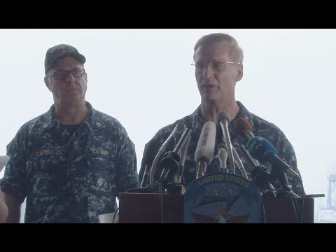 USS Fitzgerald Collision News Conference- Full Event
