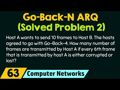 Go-Back-N ARQ (Solved Problem 2)