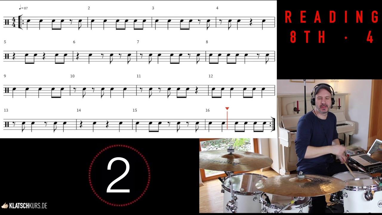 Reading 8th 4, 87bpm, Full - Klatschkurs - Rhythm Reading - by Kristof Hinz