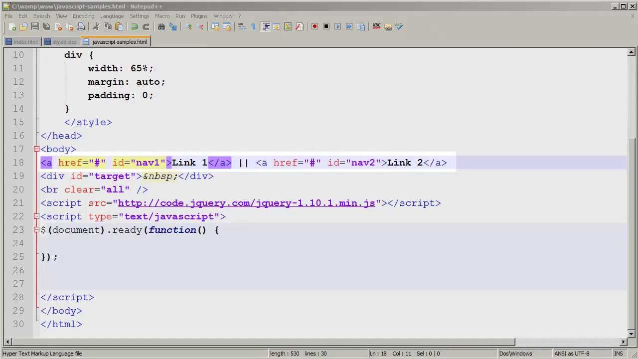 Using jQuery to Load External Files via AJAX