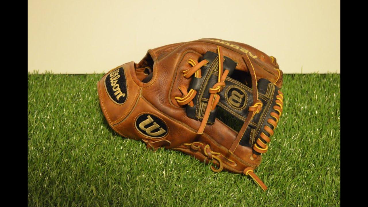 Baseball Glove Repair : Wilson a pro stock baseball glove relace before