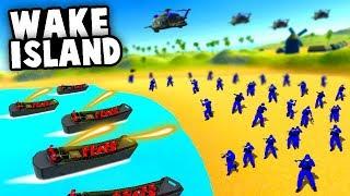 BATTLE of Wake ISLAND! Massive World War 2 BEACH LANDING! (Ravenfield Best Mods)