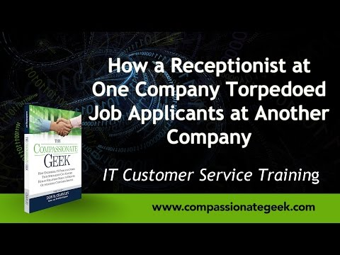 How a Receptionist at One Company Torpedoed Job Applicants at Another Company