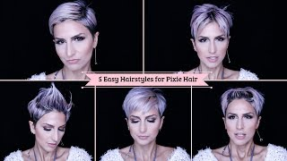 Quick and Easy hairstyles for short hair No Heat Pixie Hairstyles | short Hair Tutorial