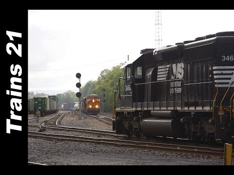 BNSF & Union Pacific Leaders + Switching A Massive Local Freight On The Sunbury Line