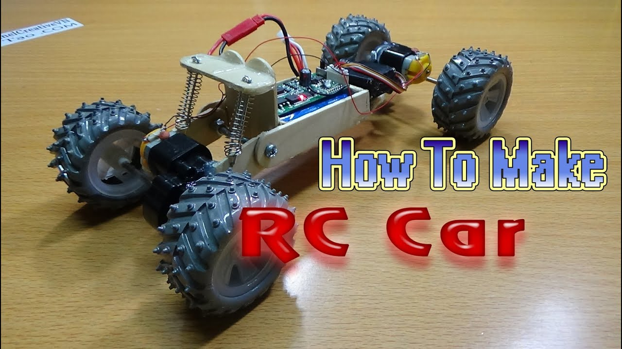 Make A Car >> How To Make A Rc Car 4wd Homemade Rc Car Youtube