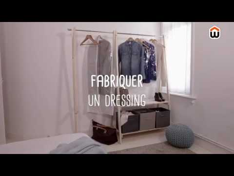 fabriquer un dressing en bois diy youtube. Black Bedroom Furniture Sets. Home Design Ideas
