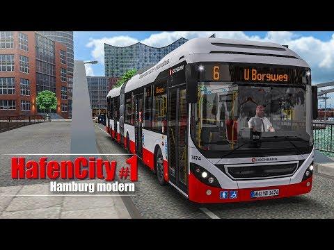 OMSI 2: Hamburg HafenCity #1 - Mit dem Volvo 7900 Hybrid-Bus auf der Linie 6! | BUS-SIMULATOR