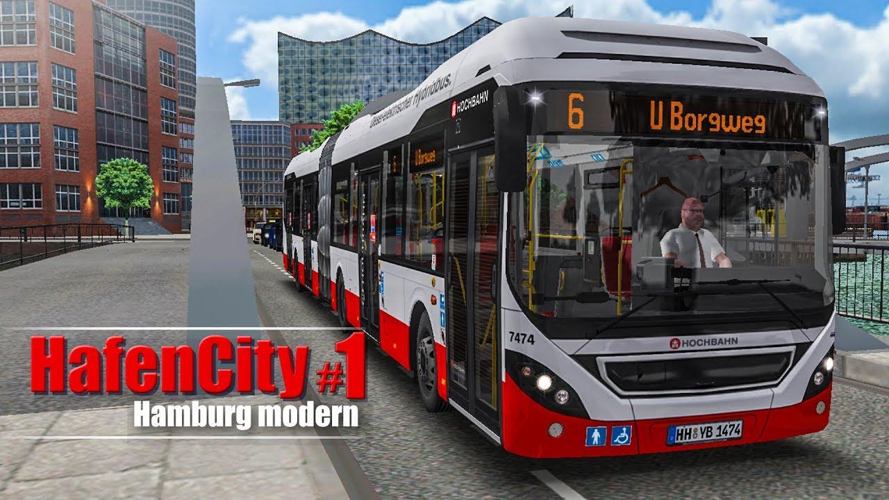 OMSI 2: Hamburg HafenCity #1 - Mit dem Volvo 7900 Hybrid-Bus auf der ...