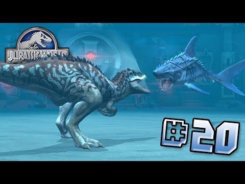 Indomninus Vs Mega Shark!    Jurassic World - Lagoon Series - Ep 20 HD