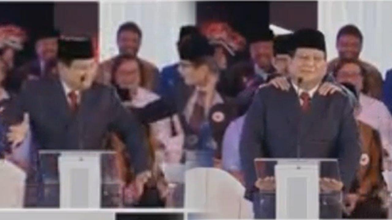 Jalannya Debat Capres Perdana Memanas, Prabowo Joget di Atas Panggung Lalu Dipijit Sandiaga