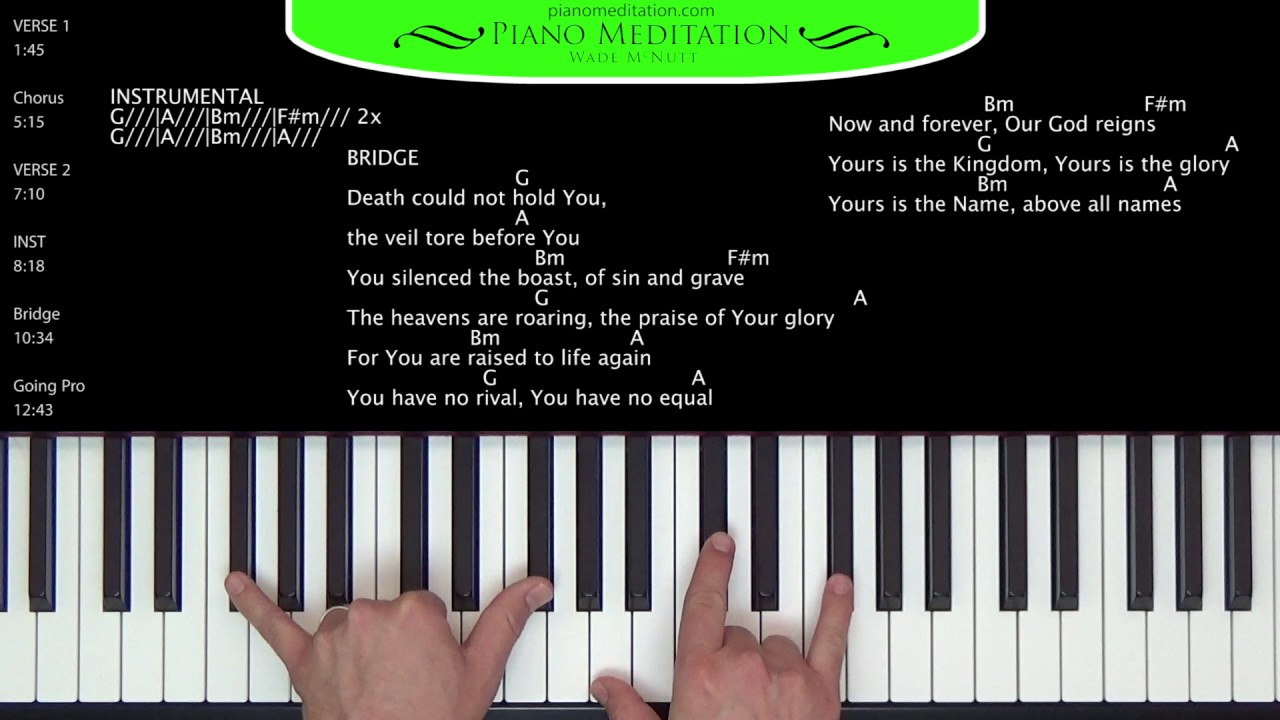 What a Beautiful Name - How to Play on the Piano