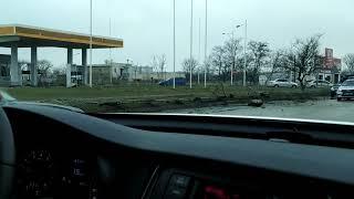 Авария BMW возле заправки  г. Евпатория Крым/Крим/Crimea [29 января 2020]