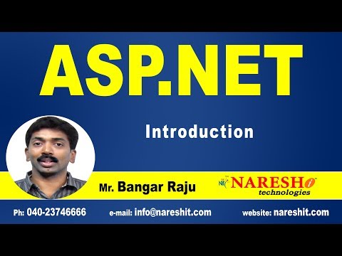 ASP NET Introduction | ASP.NET Tutorials | Mr.Bangar Raju