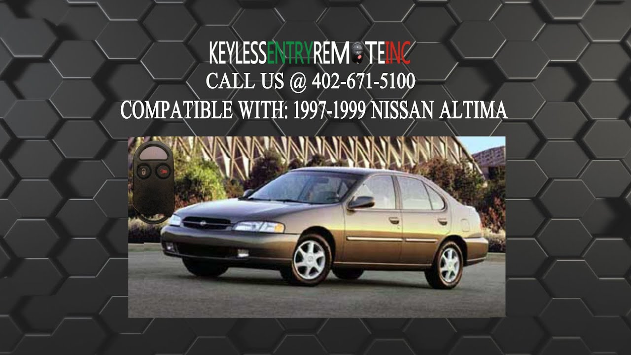 How To Replace Nissan Altima Key Fob Battery 1997 1998 1999